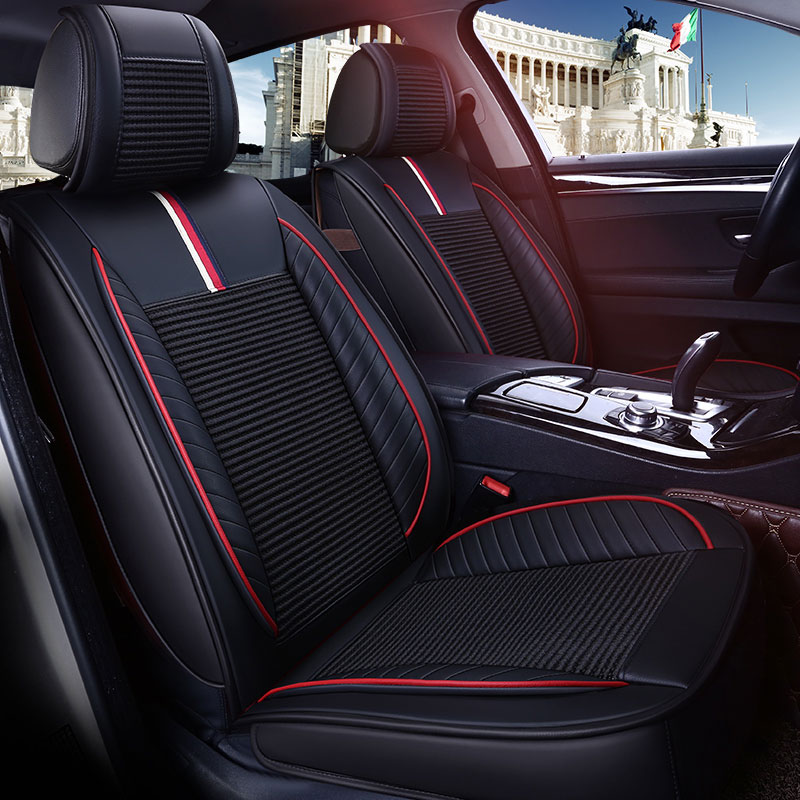 Leather car seat cover auto seats covers for land rover discoveri 2 3 discovery 3 4 land rover freelander 2 2005 2004 2003 2002