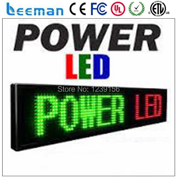 LEEMAN P10 DIP RGB led Electronic wireless scrolling/running text RS232/RS485 p10 programmable led moving message sign board