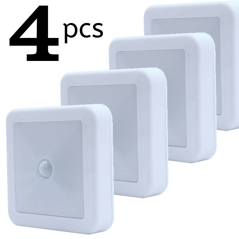PIR Motion Sensor Night Light Wireless Battery LED Wall Lamp Under Cabinet Kitchen Closet Light for Bedroom Bedroom Bedroom