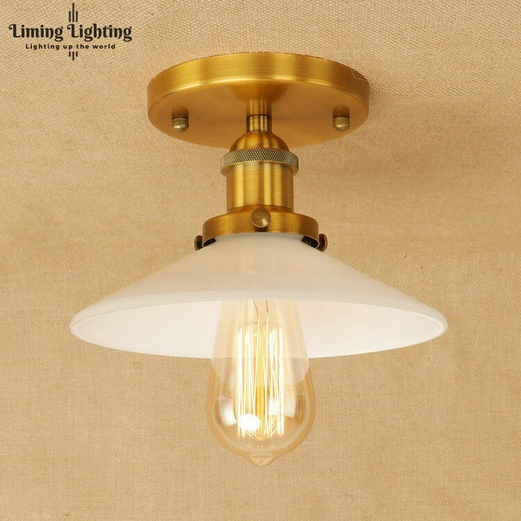 Loft Style Retro Edison Industrial LED Ceiling Lamp Antique Iron Glass Vintage Ceiling Light Fixtures Home Lighting Luminaria retro loft style mirror glass iron vintage ceiling light fixtures edison industrial ceiling lamp antique lights home lighting
