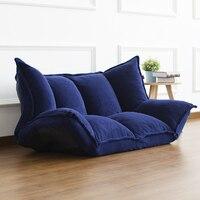 Muebles de piso reclinable sofá cama de futón japonés moderno plegable ajustable Sleeper Chaise Lounge reclinable para sofá de sala de estar