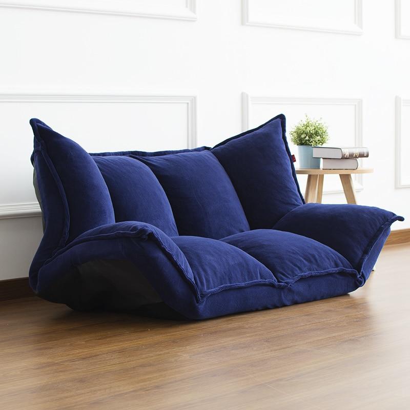 Piso Mobiliário Reclináveis Futon Japonês Sofá Cama Moderna Cama Chaise Lounge Cadeira Dobrável Ajustável Para Sofá Da Sala