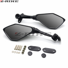 black Universal Motorcycle Aluminum CNC motorcycle Side mirror rearview accessories For Kawasaki Z1000 Z800 Z750 EX-300 z750