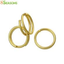 8 estações dividir anéis de salto achados ouro-cor 6mm de diâmetro, 1000 peças (b33996)
