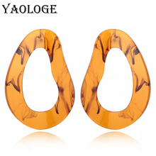 YAOLOGE Simple Drops Acrylic Earrings Fashion Creative Personality Vintage Statement Accessories For Women Jewelry New Products