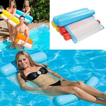 Inflatable Water Hammock Swimming Rings Pool Float Bed 120cmx70cm Hammock Lounge Chair Float Beach Swim Bed Pool Accessories(China)