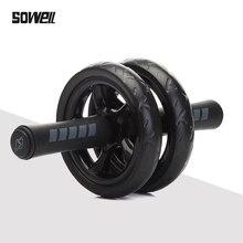 매트가 달린 복부 휠 No Noise Muscle 이중 바퀴 복근 휠 운동 보조 운동 Fitness exercise Training Equipment