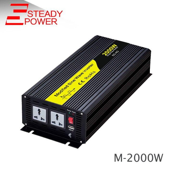 цена на 2000w off grid power solar inverter 2kw 12vdc to 220vac modified sine wave inverter