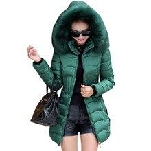 bf86a32eb6 Novo 2018 outono inverno quente casaco acolchoado curto feminino Slim fina jaqueta  jaquetas grossas de algodão