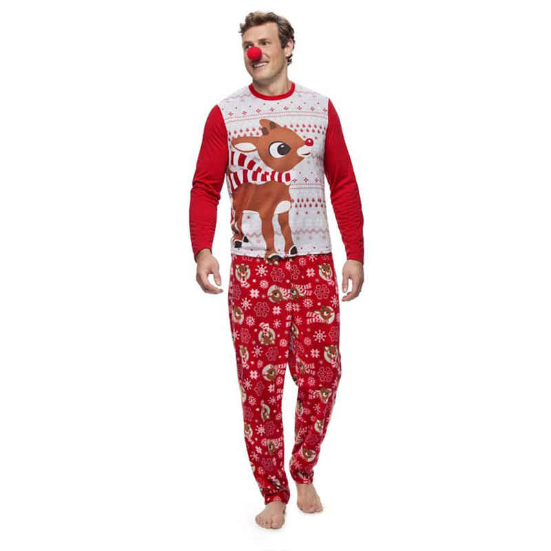 Puseky-Family-Christmas-Pajamas-Set-Elk-Print-Adult-Kids-Sleepwear-Nightwear-Pjs-Mother-Daughter-Outfits-Family (3)