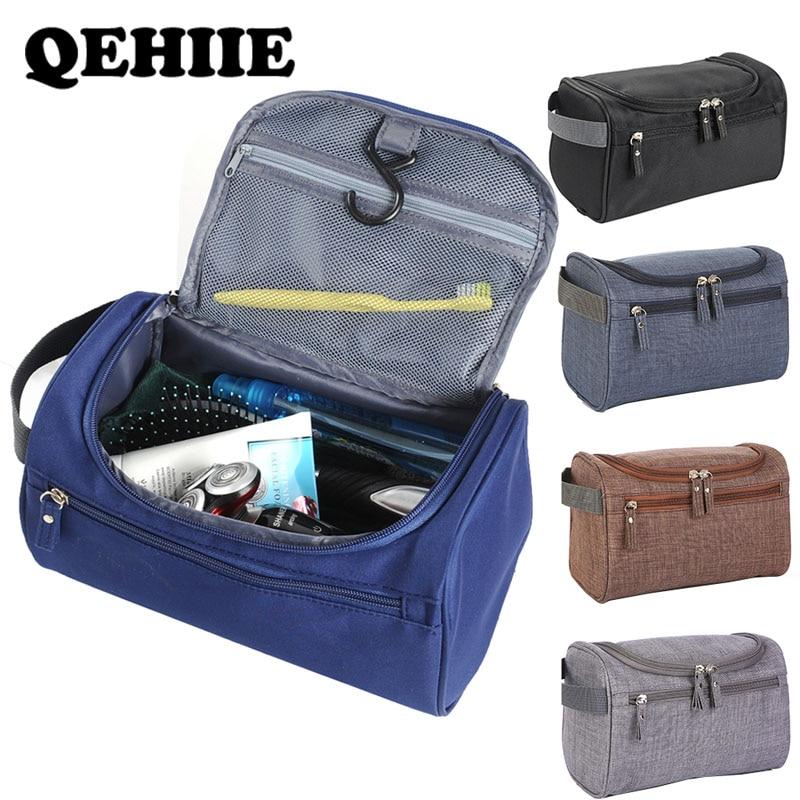 Brands Men's Waterproof Cosmetic Bag Scrub Travel Large Capacity Organizer Makeupup Bag Women Beautician Hand Vanity Case Bag