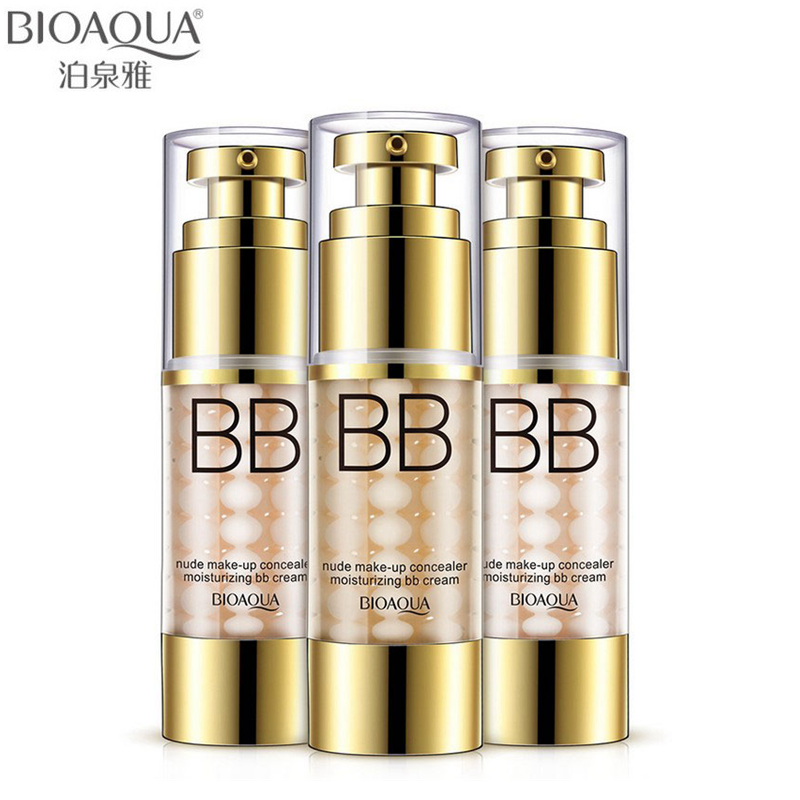 BIOAQUA Brand Air Cushion BB CC Cream Liquid Concealer Face Primer Makeup Whitening Invisible Pores Base Foundation Nude Make Up