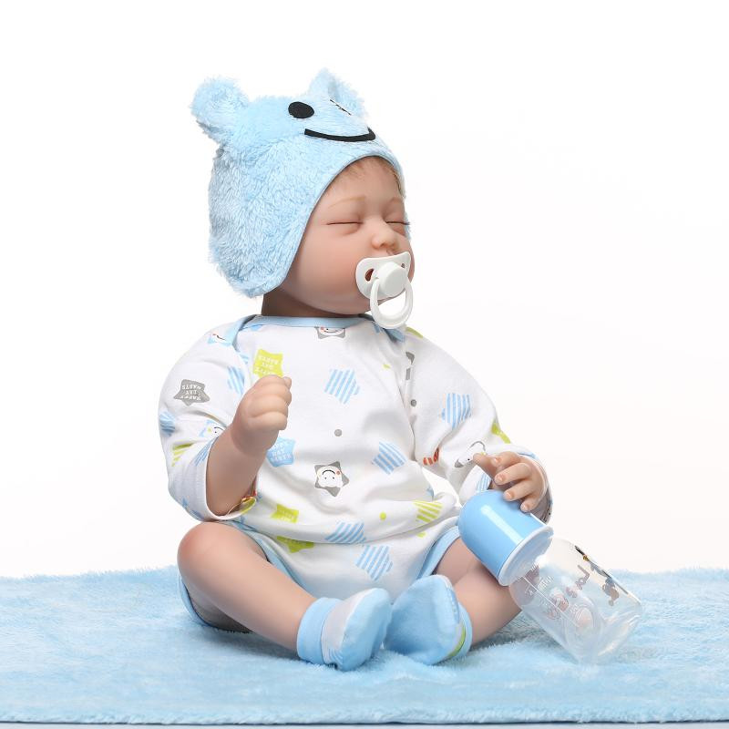 Kawaii Silicone reborn baby dolls lifelike accompany boy reborn babies sleeping doll Christmas birthday gift brinquedos for kids silicone reborn baby doll toy lifelike reborn baby dolls children birthday christmas gift toys for girls brinquedos with swaddle
