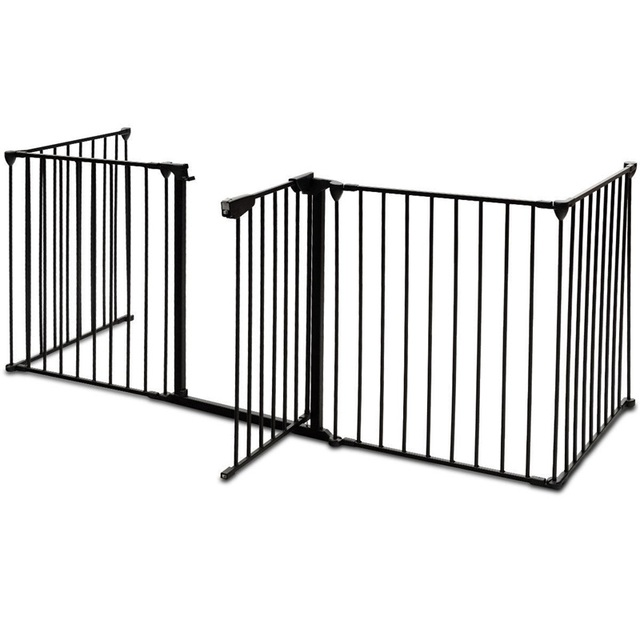 Pet's Black Stainless Steel Gate