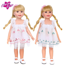 цена 15 Colors Princess Dress Baby New Born Doll Clothes for 18 inch Dolls Boy Girl Doll Clothes and Accessories for birthday gift онлайн в 2017 году