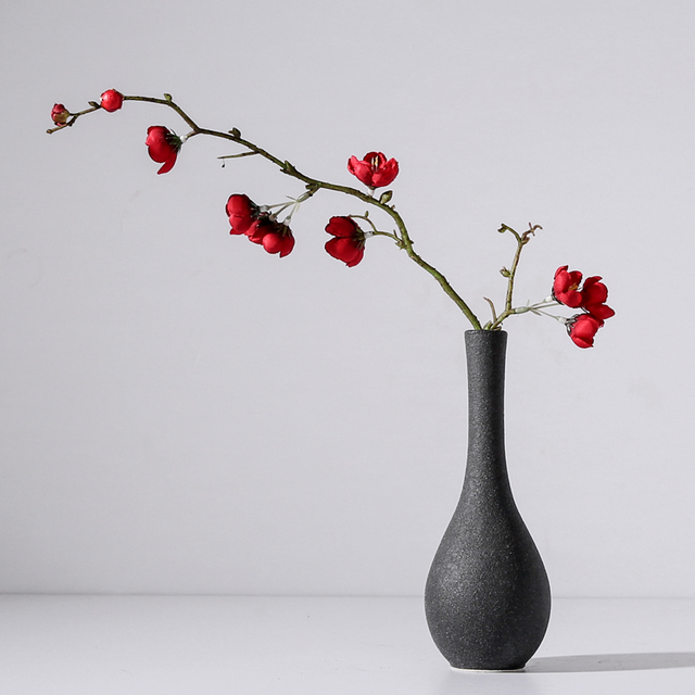 Originality vase decoration home Modern grind ceramic vases Tabletop ceramic vase home decoration accessories Blue gray black 3