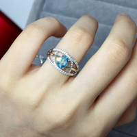 ZT Classic Women 925 Sterling Silver Ring Two White Or Rose Color Rings Topaz Jewelry Female Rings For Women Wedding Ring Gift