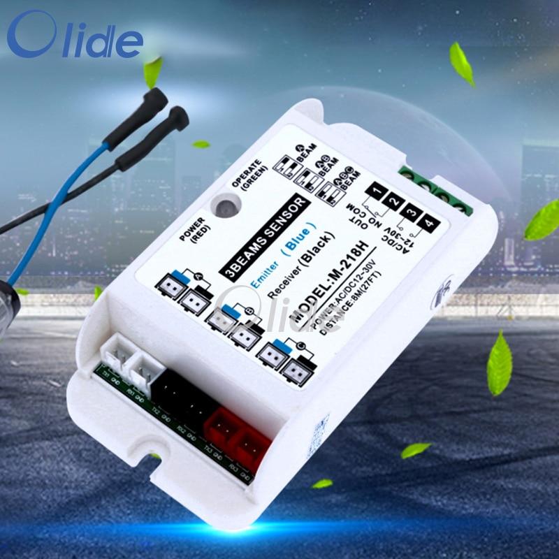 3-Beam Safety Sensor For Presence Detector System microwave active infrared safety sensor safety beam function power input ac dc 12 30v motion presence sensor