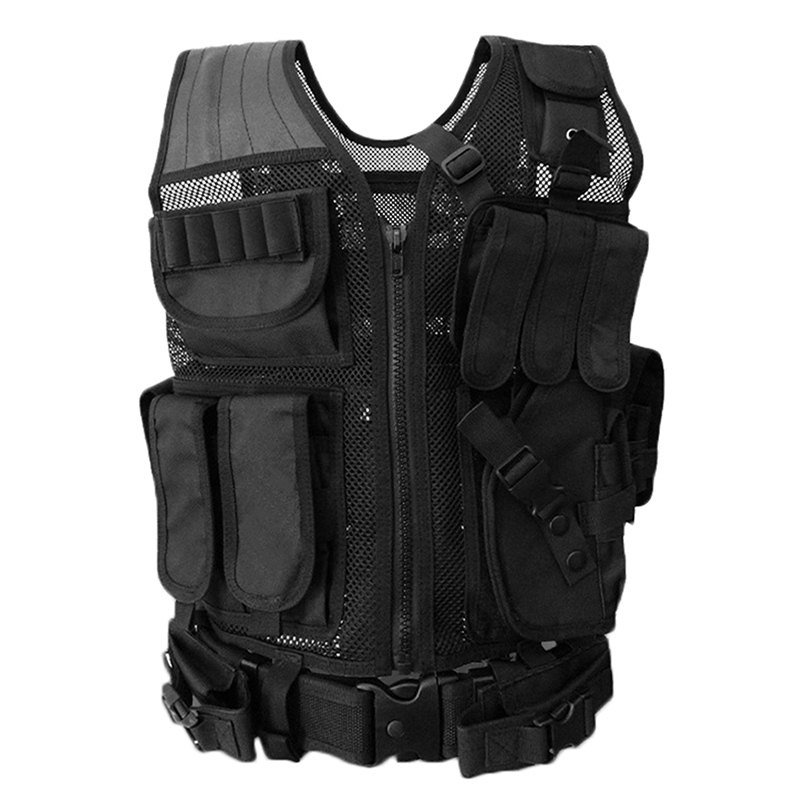 Phalanx gear Hunting Tactical Vest Army Military Men's Swat Airsoft Hunting Molle Paintball Combat Body Armor Outdoors Black