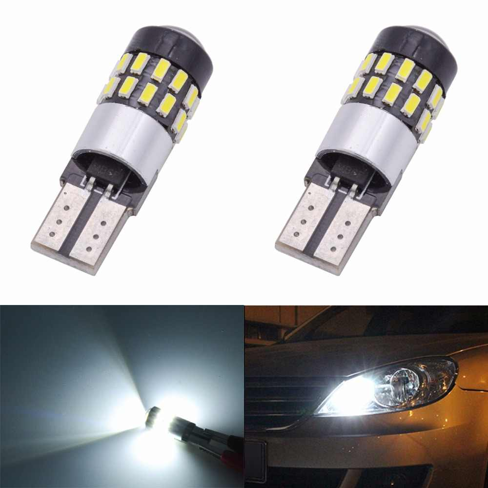 2pcs T10 168 175 194 2825 W5W LED Light Bulbs CanBus Error Free 3014 30SMD Lens 300Lumens DC 12V Interior Map Dome Lamps