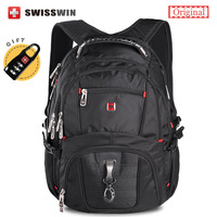 Swiss Brand Waterproof 15 6 Men S Laptop Backpack High Quality Music Backpack For Teenage Boys