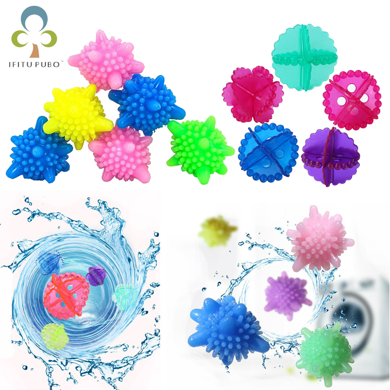 6Pcs/lot Anti-winding Laundry Ball Home Washing Machine Solid Cleaning Ball Super Strong Decontamination Laundry Ball GYH
