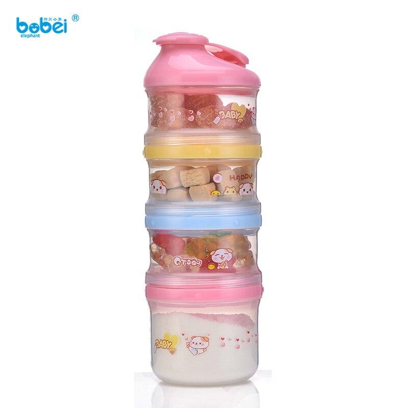 4 Layer Baby Milk Powder Box Dispenser Infant Feeding Milk