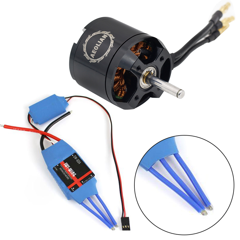 4250 800kv motor with 60A  ESC for RC airplane with free shipping free shipping 4250 100