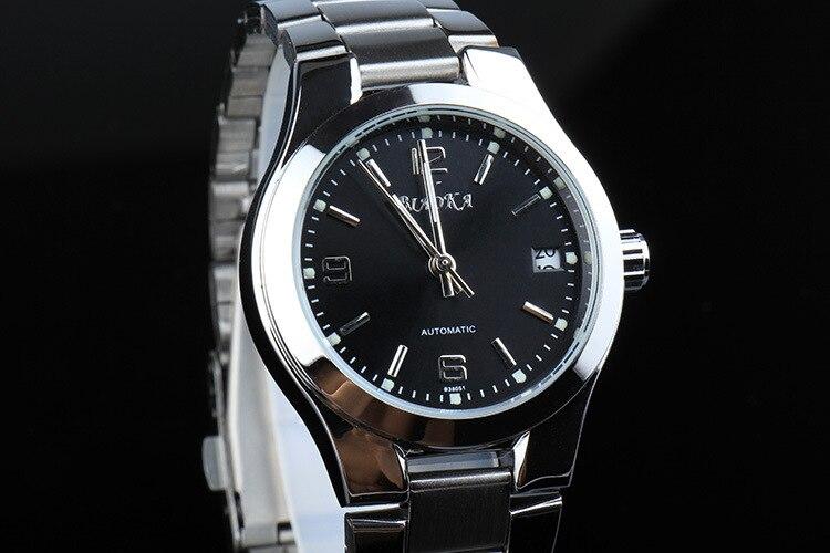 f11e600255f Elegante Declaração de Mulheres de Negócios de Moda Relógios Auto Vento  Mecânico Calendário Relojes Completa Aço Vestido Relógio de Pulso Analógico  NW3160 ...