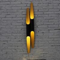 Eusolis E27 гладить трубы лампы цилиндр настенные светильники светодиодные круговой Tube аппликация murale светильник wandlamp Abajur Lampen Lampara 17