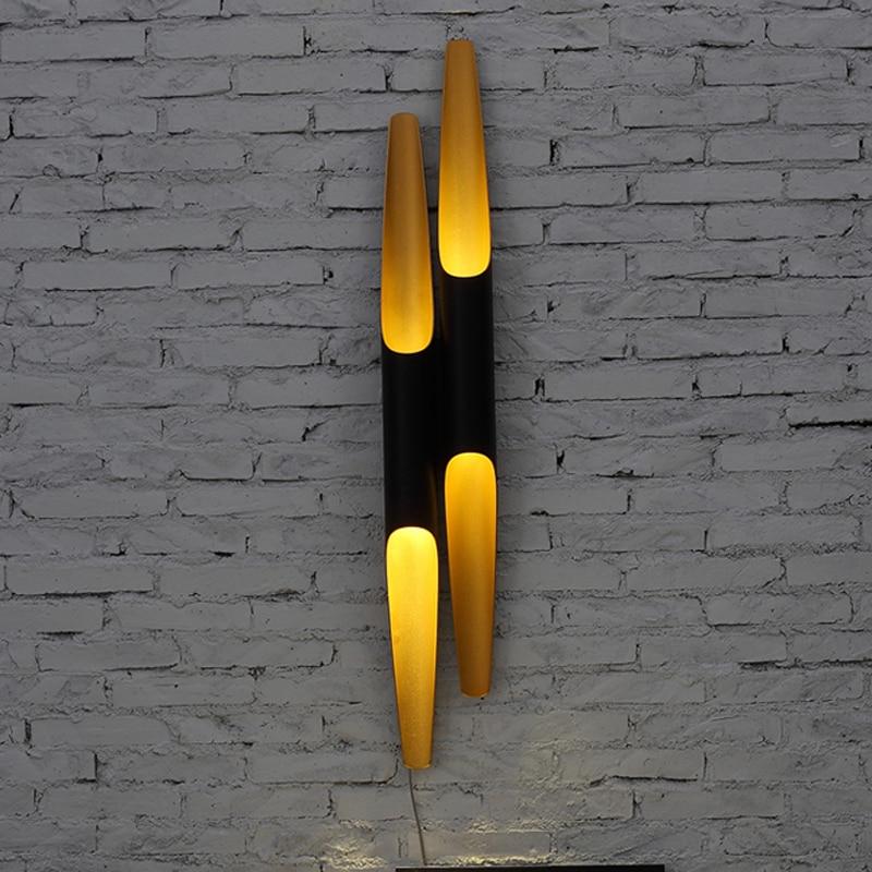 Eusolis E27 Iron Pipe Lamp Cylinder LED Wall Lights Circular Tube Applique Murale Luminaire Wandlamp Abajur