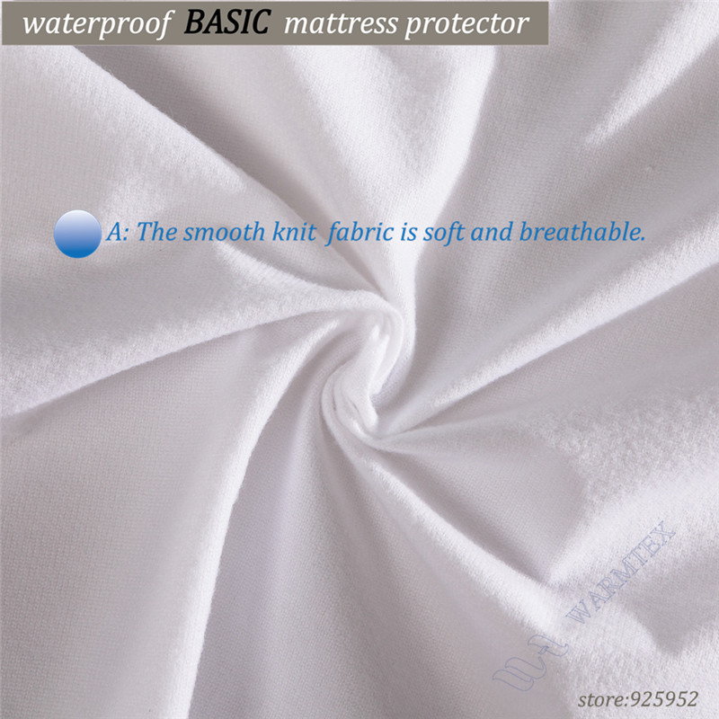 Cheap BASIC Protector fit 10-20cm mattress knit cloth Waterproof Mattress Cover/ Mattress Protector soft and thin elastic skirt