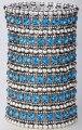 Multilayer stretch cuff bracelet women crystal wedding bridal fashion jewelry B11 6 row dropsjipping wholesale