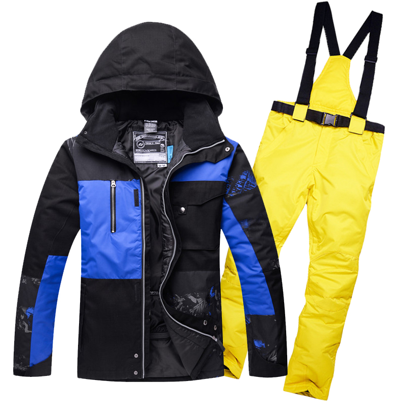 Men Skiing Snowboard Jacket And Pant Clothing Skiing Suit Set Outdoor Winter Coats Free Shippin 2018 New Brand Ski Suit цена