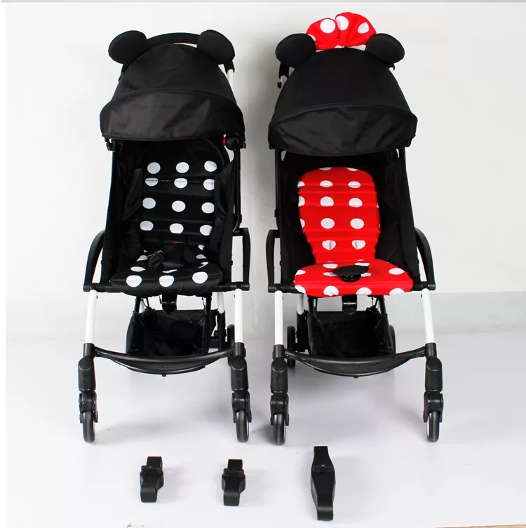 yoya TWINS STROLLER CONNECTOR--CHANGE YOUR BABYYOYA STROLLER TO TWINS DOUBLE STROLLER side by side double stroller red pink blue color twins infant stroller sale kids sleep comfortable more at ease sophisticated technologies