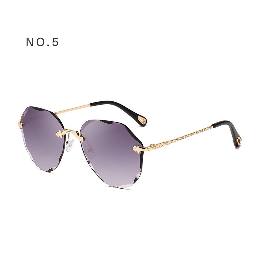 AEVOGUE Sunglasses For Women ladies Rimless Diamond cutting Lens Brand Designer Ocean Shades Vintage Sun Glasses AE0637 9