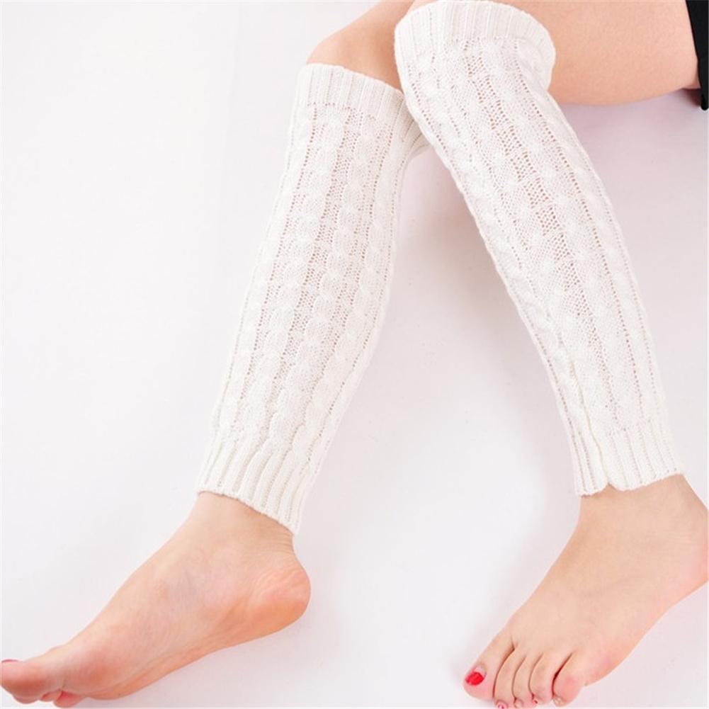 2018 Fashion Women Winter Warm Leg Warmers Knitted Scoks Crochet Long Boots Stockings Hot Sale
