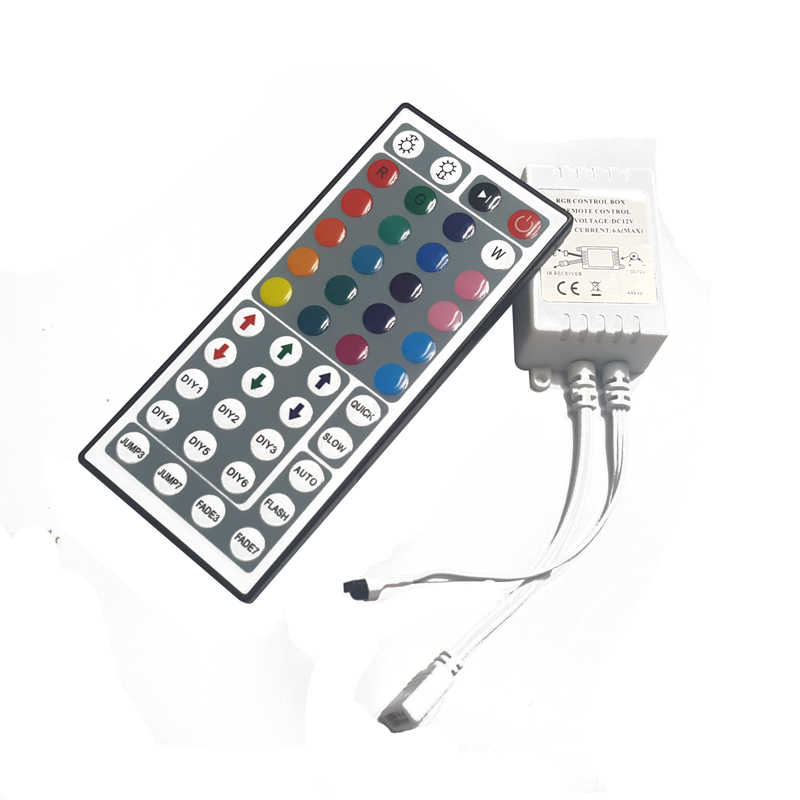 RGB LED Controller DC12V 44Key IR Remote Controller for 3528 5050 RGB LED Strip.