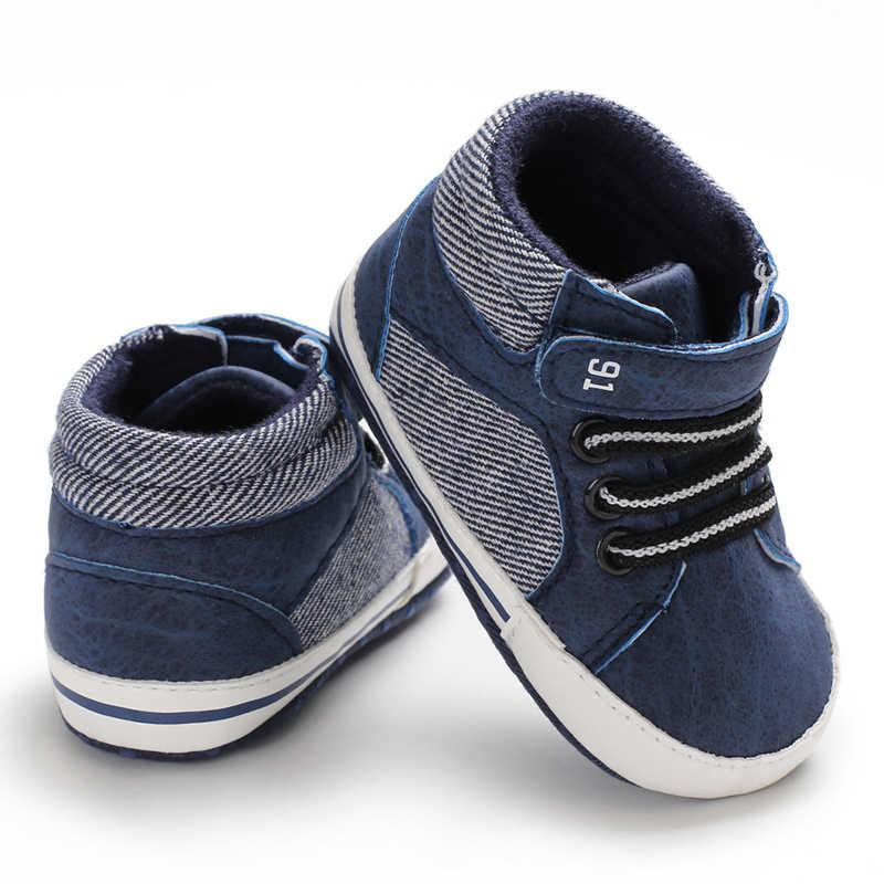 Zapatos de bebé de verano para niños recién nacidos suela blanda cuna Zapatos bebé niño niña Zapatillas de lona botines antideslizantes