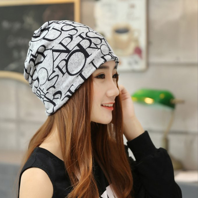 Graphic Design Knitted Beanie and Scarf