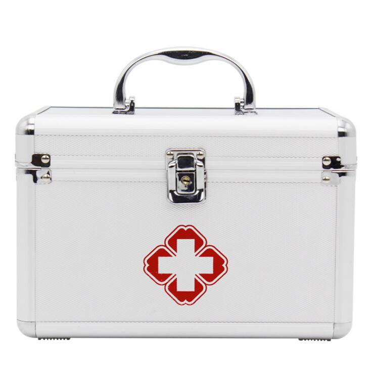 Household medicine storage medicine box medicine box aluminum alloy first aid box home medical box new gbj free shipping home aluminum medical cabinet multi layer medical treatment first aid kit medicine storage portable