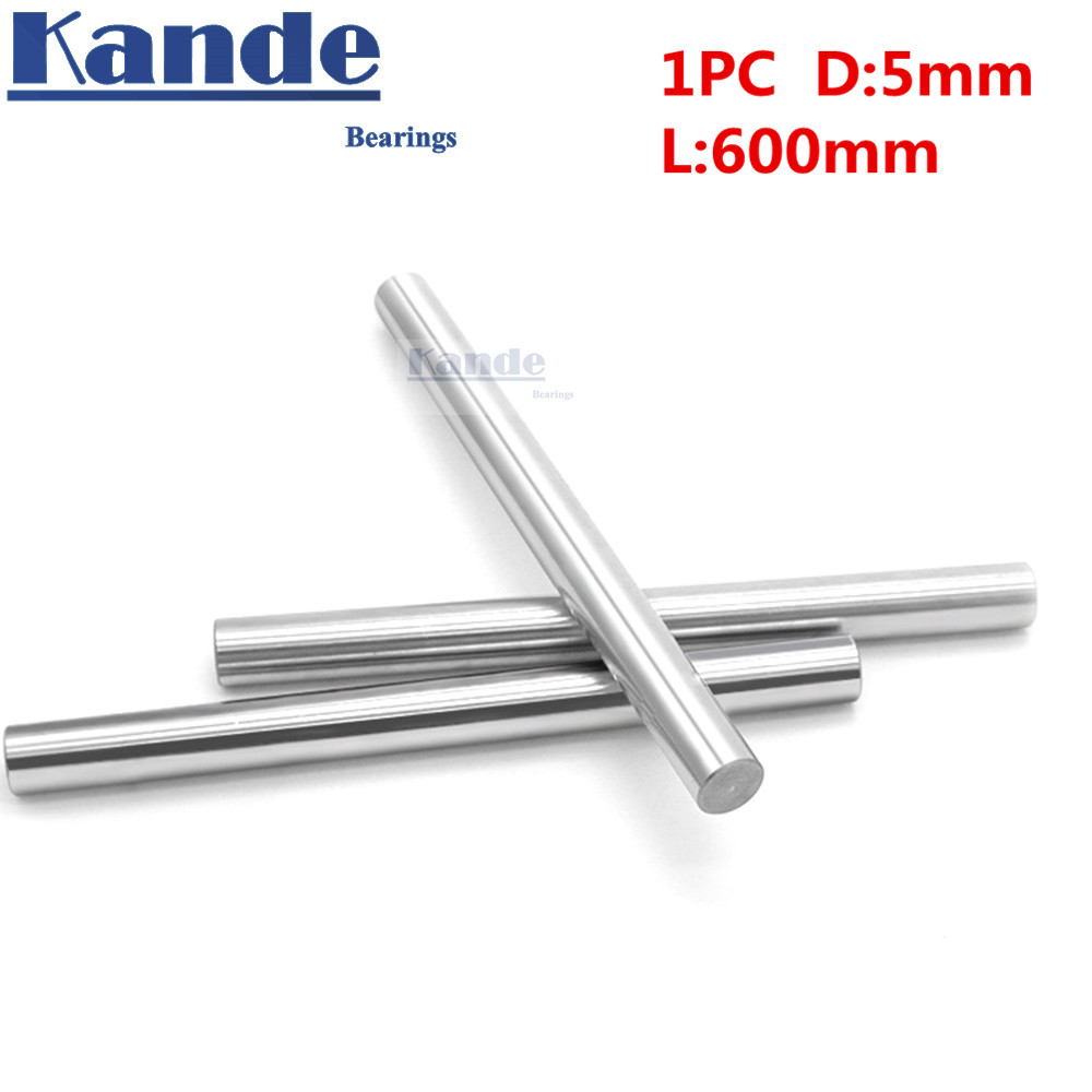 Kande Bearings 1pc d: 5mm 3D printer rod shaft 5mm linear shaft chrome plated rod shaft CNC parts 600mm chrome hardened rod kande bearings 1pc d 16mm 3d printer rod shaft 16mm linear shaft 230mm chrome plated rod shaft cnc parts 100 700mm