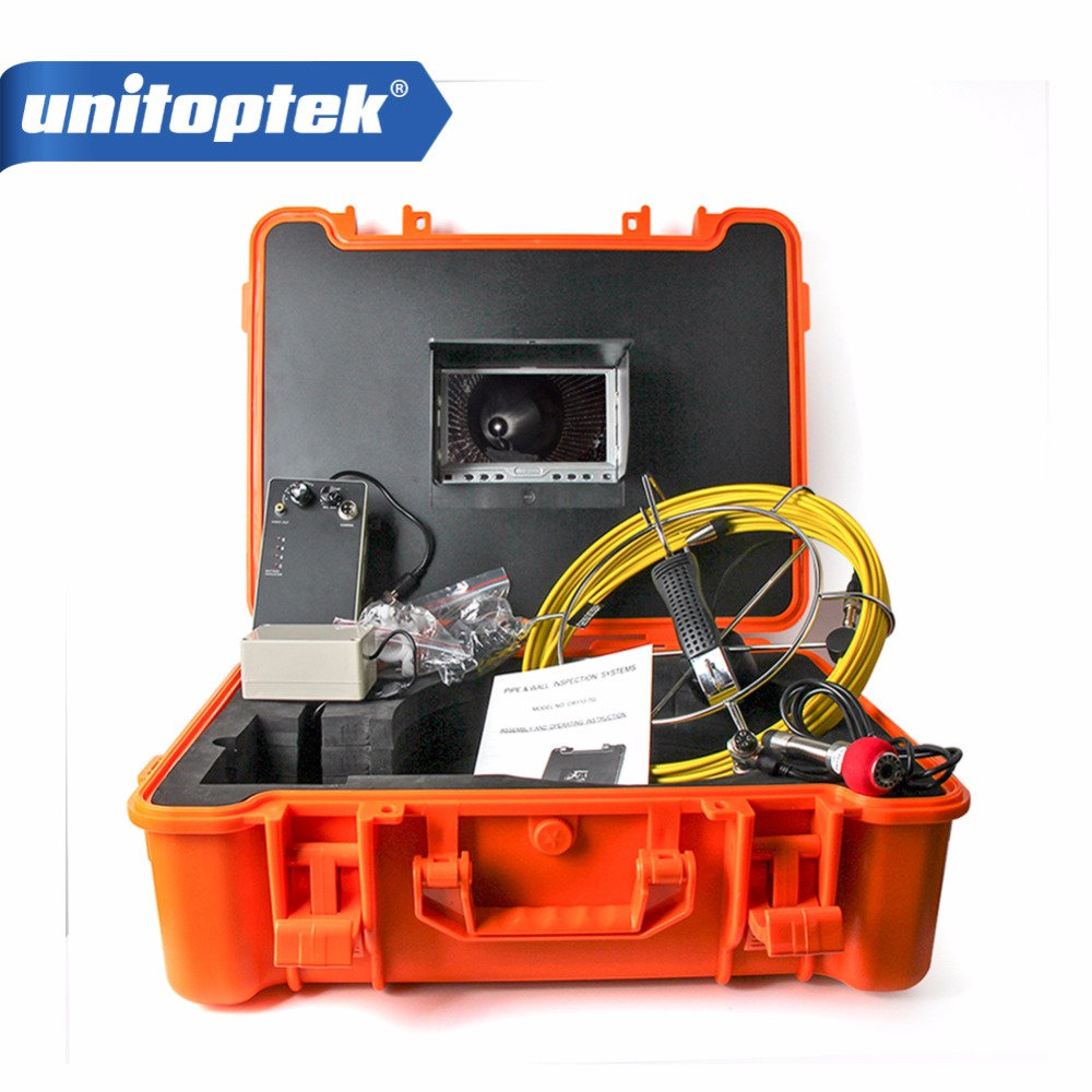 20M Drain Endoscope Pipe Inspection Camera Pipe Sewer Camera Waterproof Pipe Plumbing Camera 12Pcs White Lights Nightvision