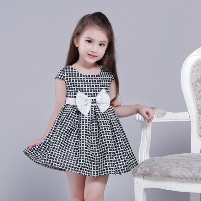 fashion plaid girls party dresses 2 13 year olds 2017. Black Bedroom Furniture Sets. Home Design Ideas