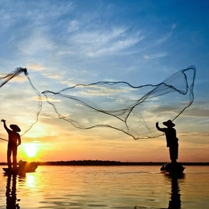 Image 3 - 12Ft 3.6M Lưới Đánh Cá Mồi Dễ Dàng Ném Gang Tay Mạnh Mẽ Lưới Nylon Chì Lưới