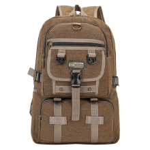 mylb Fashion trend Multifunction large capacity retro shoulder backpack men s casual canvas travel bag backpack