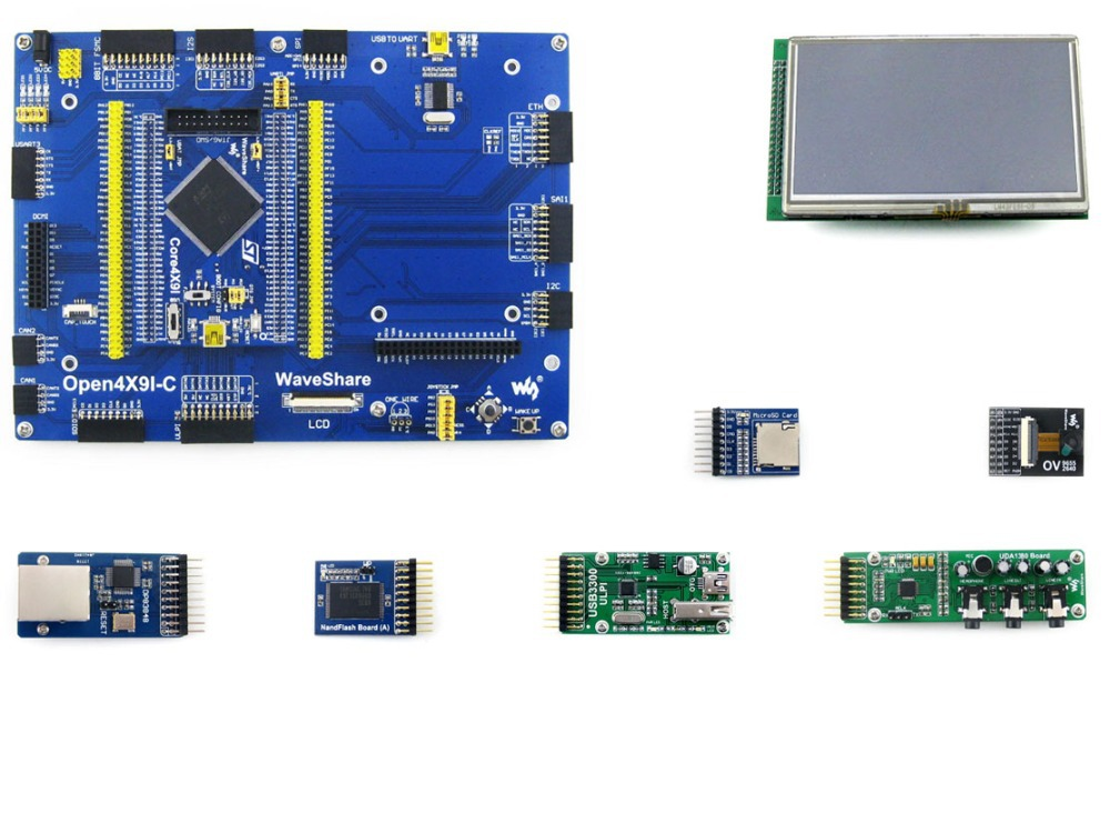 module Open429I-C Pack A#STM32 Development Board for STM32F429I MCU STM32F429IGT6 ARM Cortex M4+4.3inch Touch LCD+9 Modules Kits цена и фото