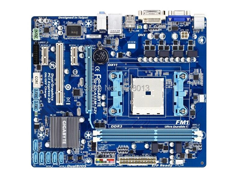 gigabyte GA-A55M-S2V original motherboard Socket FM1 DDR3 32GB desktop motherboard Free shipping  free shipping original motherboard for gigabyte ga a55 s3p socket fm1 ddr3 32gb a55 s3p all solid atx desktop motherboard