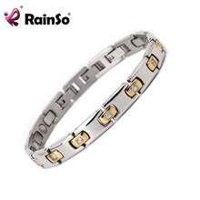 RainSo Ladies Silver Stones Magnetic Bracelet 2019 Women Health Bangle Healing Charm Wristband for Women OSB-1306(China)