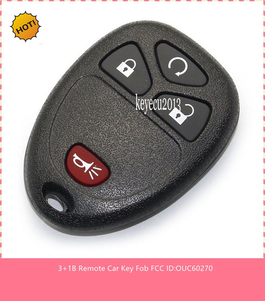 5pcs new keyless go remote car key fob for cadillac escalade 2007 2009 ouc60270